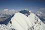 The breathtaking summit ridge of Shisha Pangma, looking to the main summit at 8046m