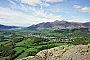Skiddaw and Keswick from Walla Crag's summit (Stage 3A)