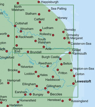 Map Of England Norfolk.Walking Books Com Walk With Us In East Of England Inc