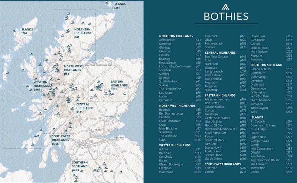 Scottish Bothy Map walking books.:: Walk with us in. :: Scotland :: Scottish  Scottish Bothy Map