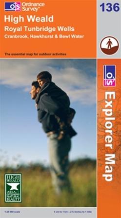 OS Explorer Map 136 High Weald