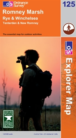 OS Explorer Map 125 Romney Marsh
