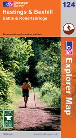 OS Explorer Map 124 Hastings & Bexhill