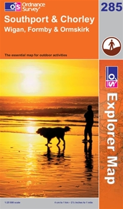 OS Explorer Map 285 Southport & Chorley