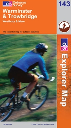 OS Explorer Map 143 Warminster & Trowbridge