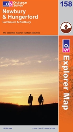 OS Explorer Map 158 Newbury & Hungerford