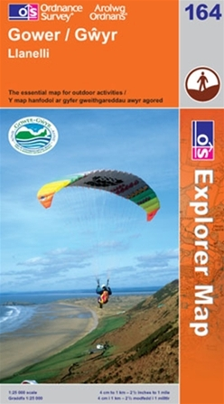 OS Explorer Map 164 Gower