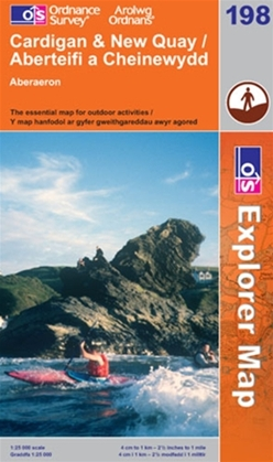 OS Explorer Map 198 Cardigan & New Quay