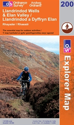 OS Explorer Map 200 Llandrindod Wells & Elan Valley