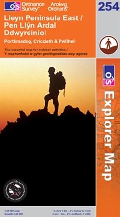 OS Explorer Map 254 Lleyn Peninsula East