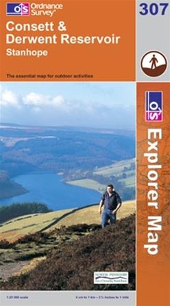 OS Explorer Map 307 Consett & Derwent Reservoir