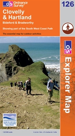 OS Explorer Map 126 Clovelly & Hartland