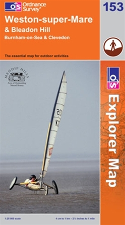 OS Explorer Map 153 Weston-super-Mare & Bleadon Hill