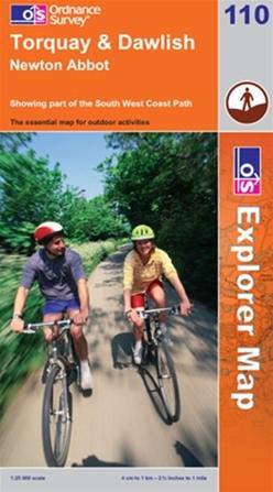 OS Explorer Map 110 Torquay & Dawlish
