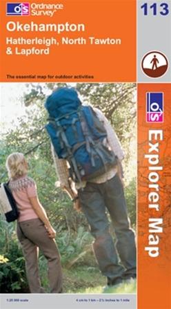 OS Explorer Map 113 Okehampton