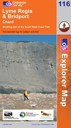 OS Explorer Map 116 Lyme Regis & Bridport