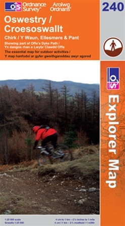 OS Explorer Map 240 Oswestry