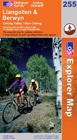 OS Explorer Map 255 Llangollen & Berwyn
