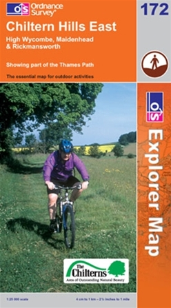 OS Explorer Map 172 Chiltern Hills East