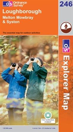 OS Explorer Map 246 Loughborough