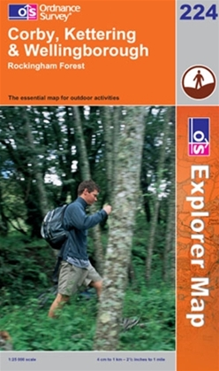 OS Explorer Map 224 Corby, Kettering & Wellingborough