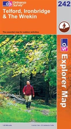 OS Explorer Map 242 Telford, Ironbridge & The Wrekin