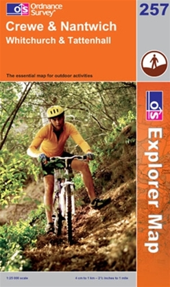 OS Explorer Map 257 Crewe & Nantwich
