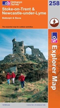 OS Explorer Map 258 Stoke-on-Trent & Newcastle-under-Lyme