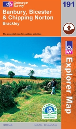 OS Explorer Map 191 Banbury, Bicester & Chipping Norton