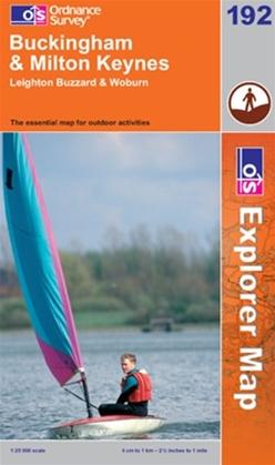 OS Explorer Map 192 Buckingham & Milton Keynes