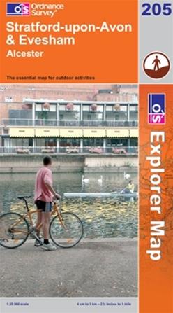OS Explorer Map 205 Stratford-upon-Avon & Evesham