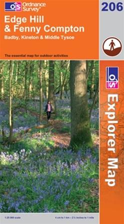 OS Explorer Map 206 Edge Hill & Fenny Compton