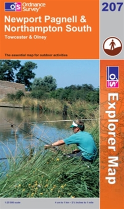 OS Explorer Map 207 Newport Pagnell & Northampton South