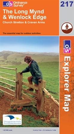 OS Explorer Map 217 The Long Mynd & Wenlock Edge