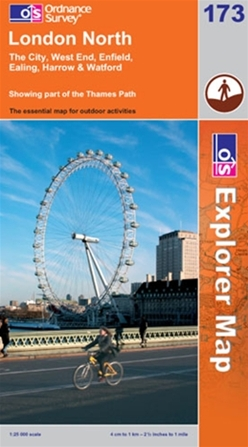 OS Explorer Map 173 London North