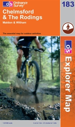 OS Explorer Map 183 Chelmsford & The Rodings