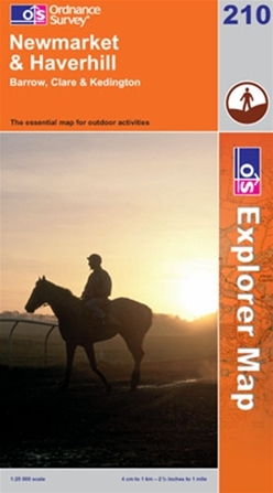 OS Explorer Map 210 Newmarket & Haverhill