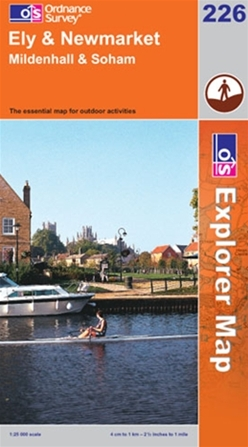 OS Explorer Map 226 Ely & Newmarket