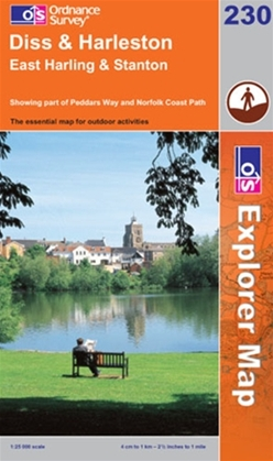 OS Explorer Map 230 Diss & Harleston