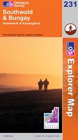 OS Explorer Map 231 Southwold & Bungay