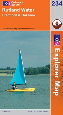 OS Explorer Map 234 Rutland Water