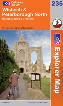 OS Explorer Map 235 Wisbech & Peterborough North