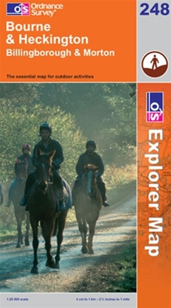 OS Explorer Map 248 Bourne & Heckington