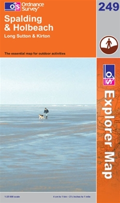 OS Explorer Map 249 Spalding & Holbeach