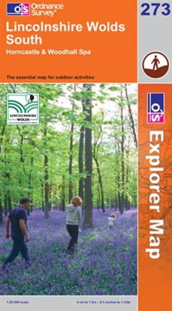 OS Explorer Map 273 Lincolnshire Wolds South