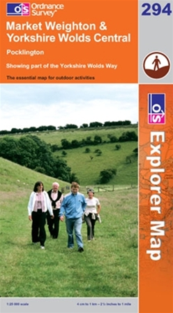 OS Explorer Map 294 Market Weighton & Yorkshire Wolds Central