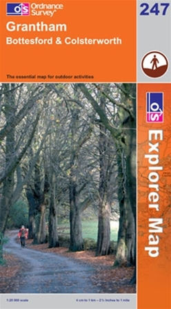OS Explorer Map 247 Grantham