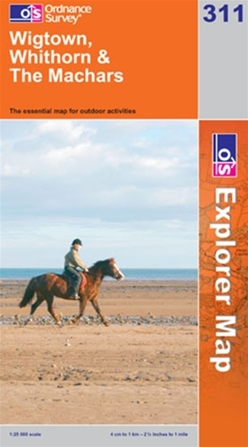 OS Explorer Map 311 Wigtown, Whithorn & The Machars