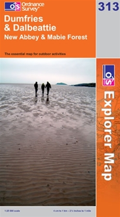 OS Explorer Map 313 Dumfries & Dalbeattie