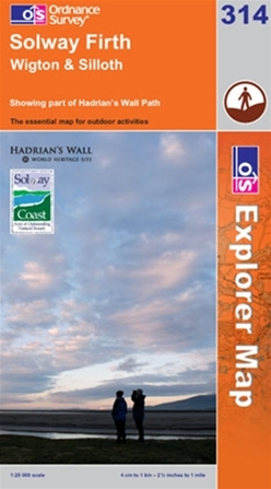 OS Explorer Map 314 Solway Firth